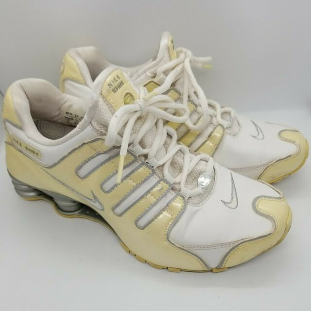 Nike Shox 2007 Womens Sz 8 Running Shoes Silver Gray Yellow 309206-112
