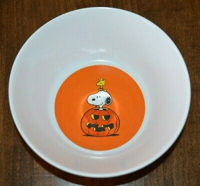 Pottery Barn Kids Peanuts Snoopy Halloween Bowl New