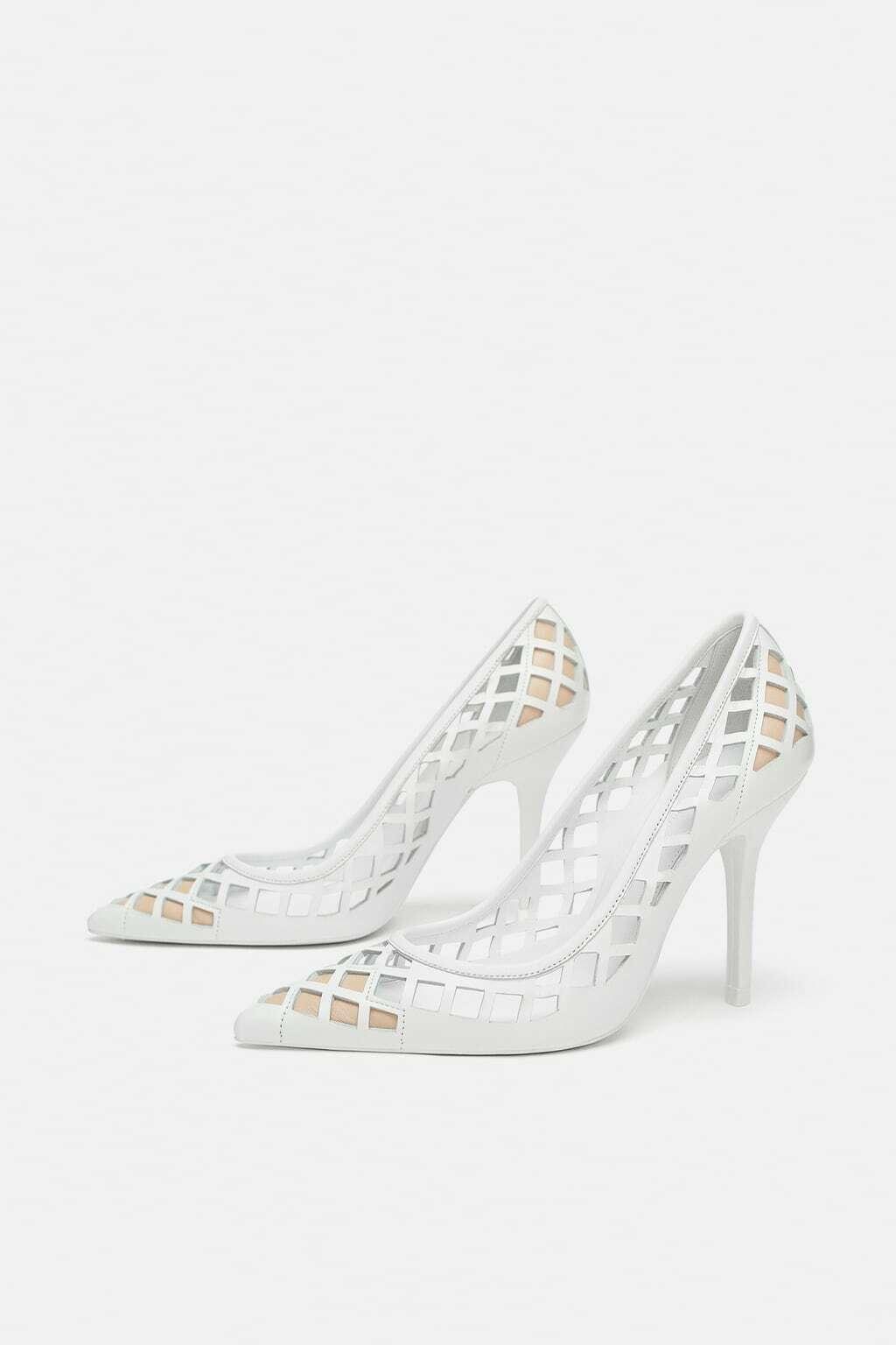 Zara Studio blancoo Cuero Calado Bombas Tacones Tribunal Zapatos Talla Talla Talla 36 euros  comprar mejor