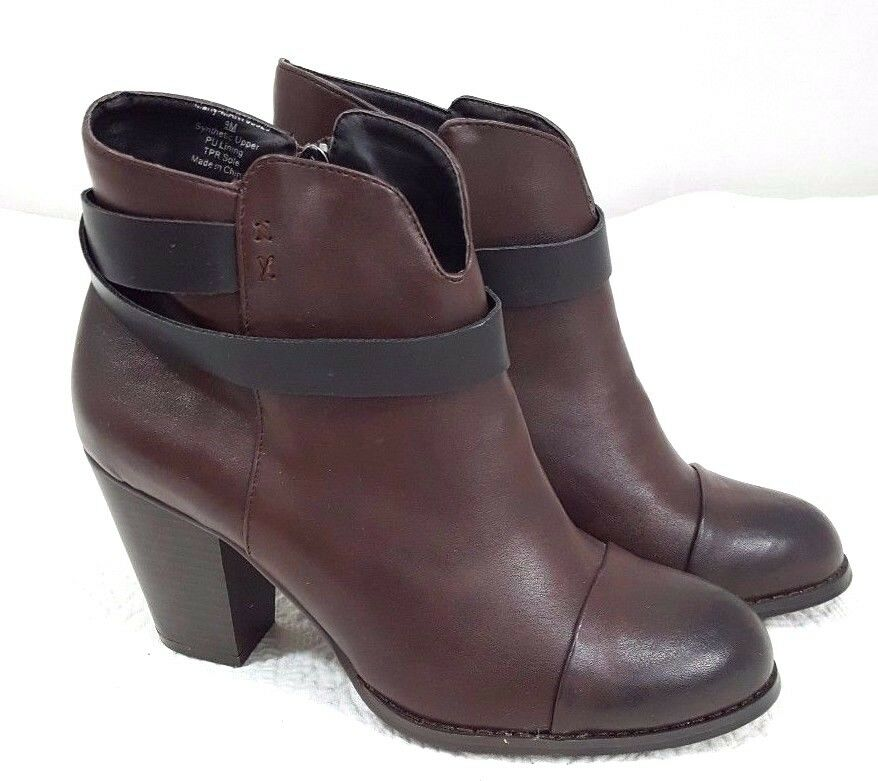 Dooballo Women shoes Ankle Boots shoes Size 9 Brown Fall Winter