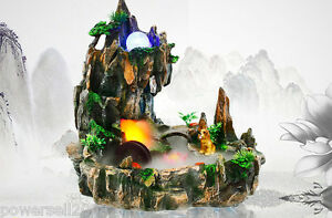 Rural-Style-Home-Decorative-Craft-Gift-Rockery-Flowing-Water-Fountain