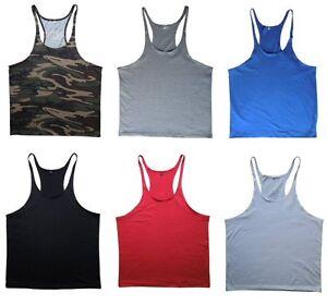 3589374911520 Mens Blank Stringer Gym Singlet Y-Back T-Back Bodybuilding Tank ...