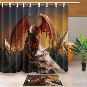 Image Is Loading Custom Dragon Shower Curtain Bedroom Waterproof Fabric Amp