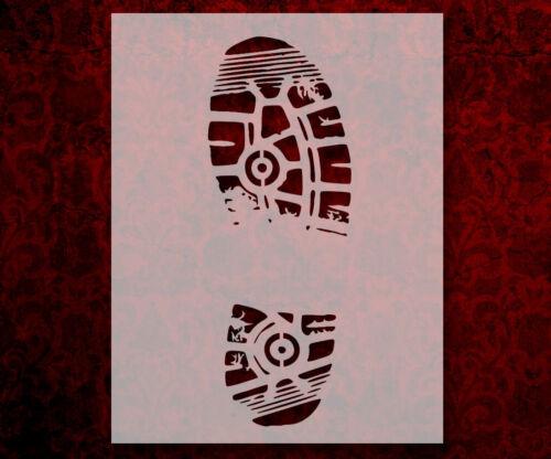 "518 Shoe Print Foot Boot 8.5/"" x 11/"" Stencil FAST FREE SHIPPING"