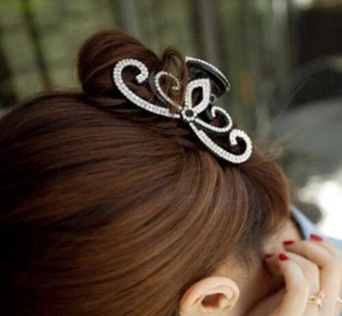Sweet Women Acrylic Crystal hair Clip Accessories Rhinestone