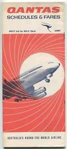 QANTAS TIMETABLE JULY 1967 ROUTE MAP QF BOEING 707 | eBay on