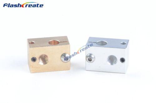3D Printer Reprap E3D V6 Heater Block 23x16x11.5mm All-Metal Extruder for PT100