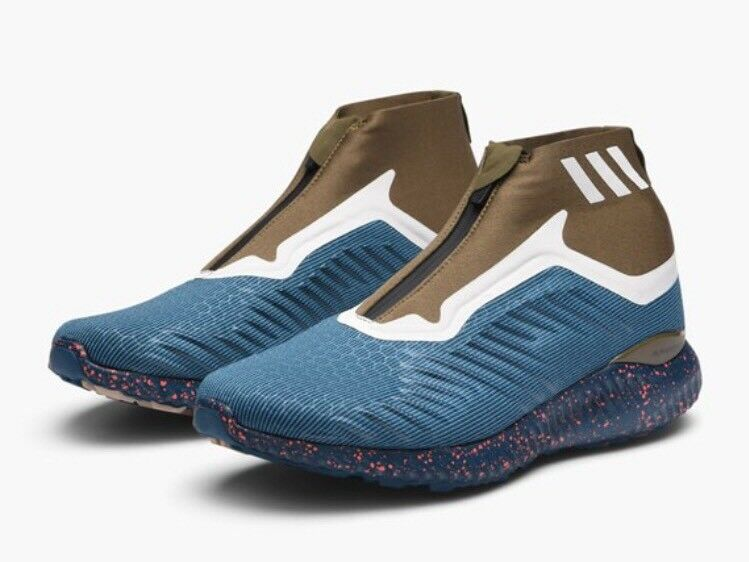 Adidas Alphabounce 5.8 Zip Men's Running Shoes BW1387 Blue Petrol Night Size 9
