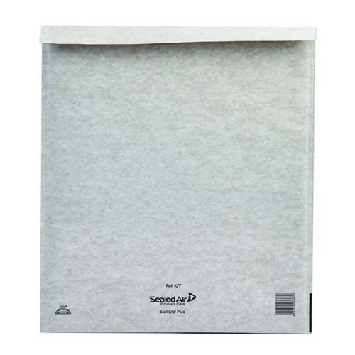 Mail Lite Plus Bubble Lined Size K//7 350x470mm Oyster White Postal Bag Pack of