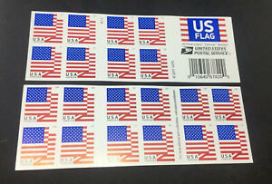 20 USPS Forever Stamps US 2017-2018 US FLAG FOREVER Postage USA 20 per Book