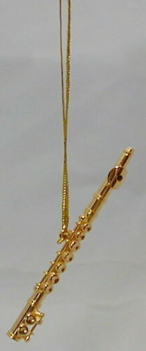 Flute replica w//silver or gold plated handmade collectible miniature Ornament 3/""