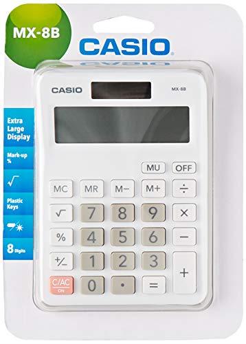 Casio MX-8B Desk Top Calculator, White