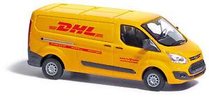 Busch-52411-Ford-Transit-Custom-Box-Truck-DHL-Model-1-87-H0