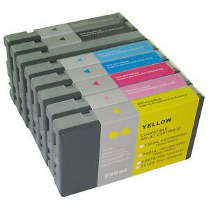 8X-Cartuchos-de-Tinta-para-Tinta-Epson-Stylus-pro-9800-7800-Cada-220ml-Pigmento