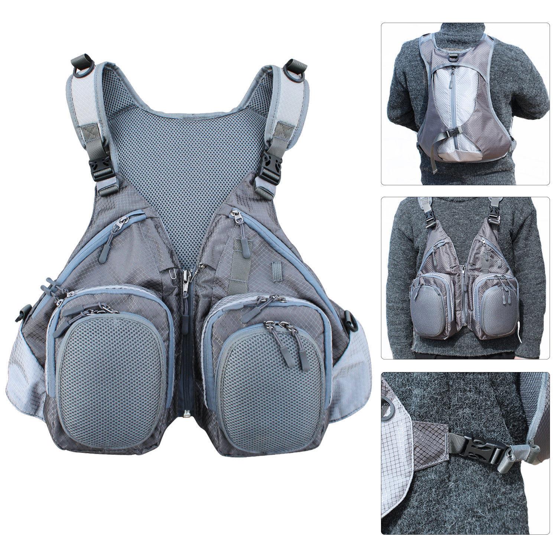Fly pesca Vest Combo Mutiple divertiuominitoction Backpack borsa For all'aperto sport pesca