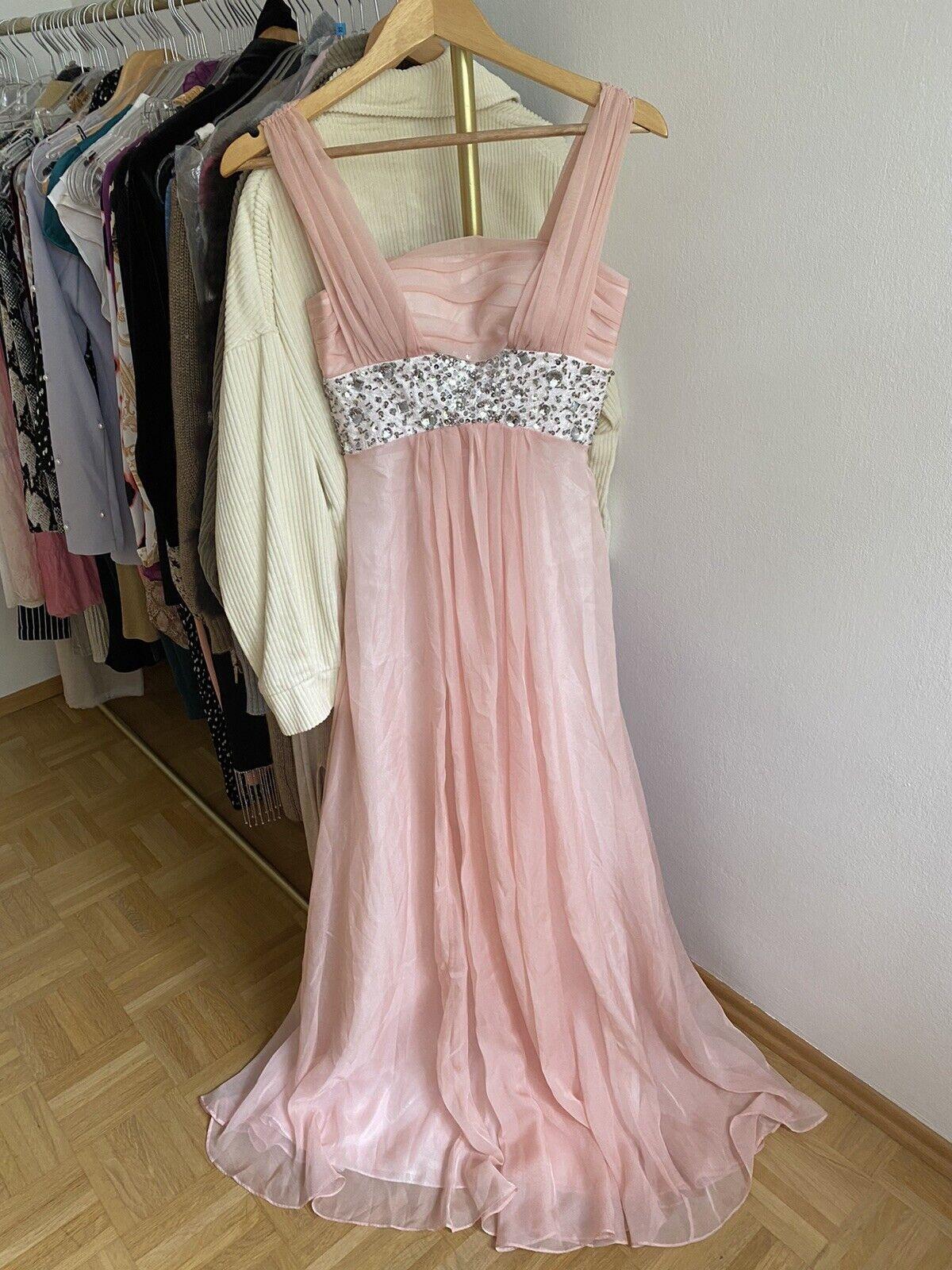 eDressit Abendkleid aus Seide Rosa Prinzessin Kleid XXXS/30