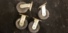 4pc Set 6 Extra Heavy Duty Industrial Caster Wheels Straight Swivel Grease Port