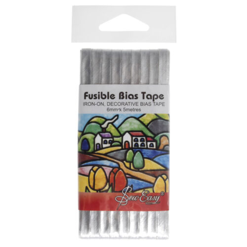 5x Fusible Bias Tape 5mx6mm Silver Sewing Craft Tool Hobby Art UK Bulk Filoro