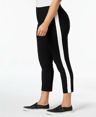 INC International Concepts Women/'s Plus Size Racing-Stripe Skinny Pants