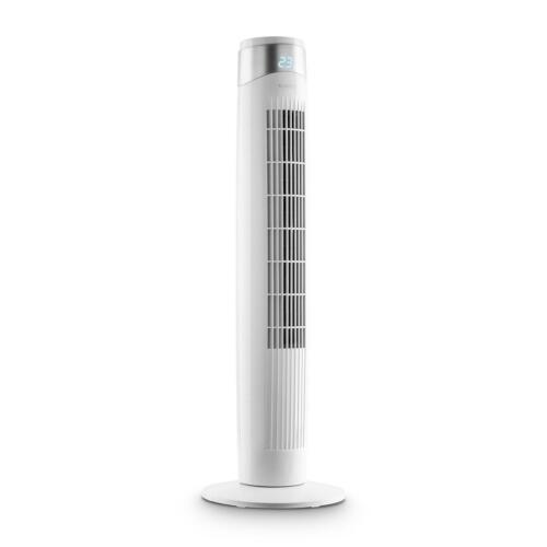 Ventilateur Oscilliant Colonne Tour 6 vitesses Rafraîchisseur Écran LED Blanc