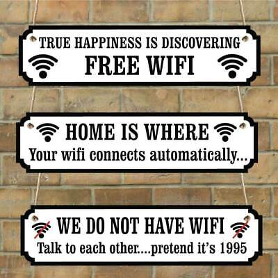 FREE WIFI SIGN, Funny WIFI Sign, Joke internet plaque, Funny Family house  plaque | eBay