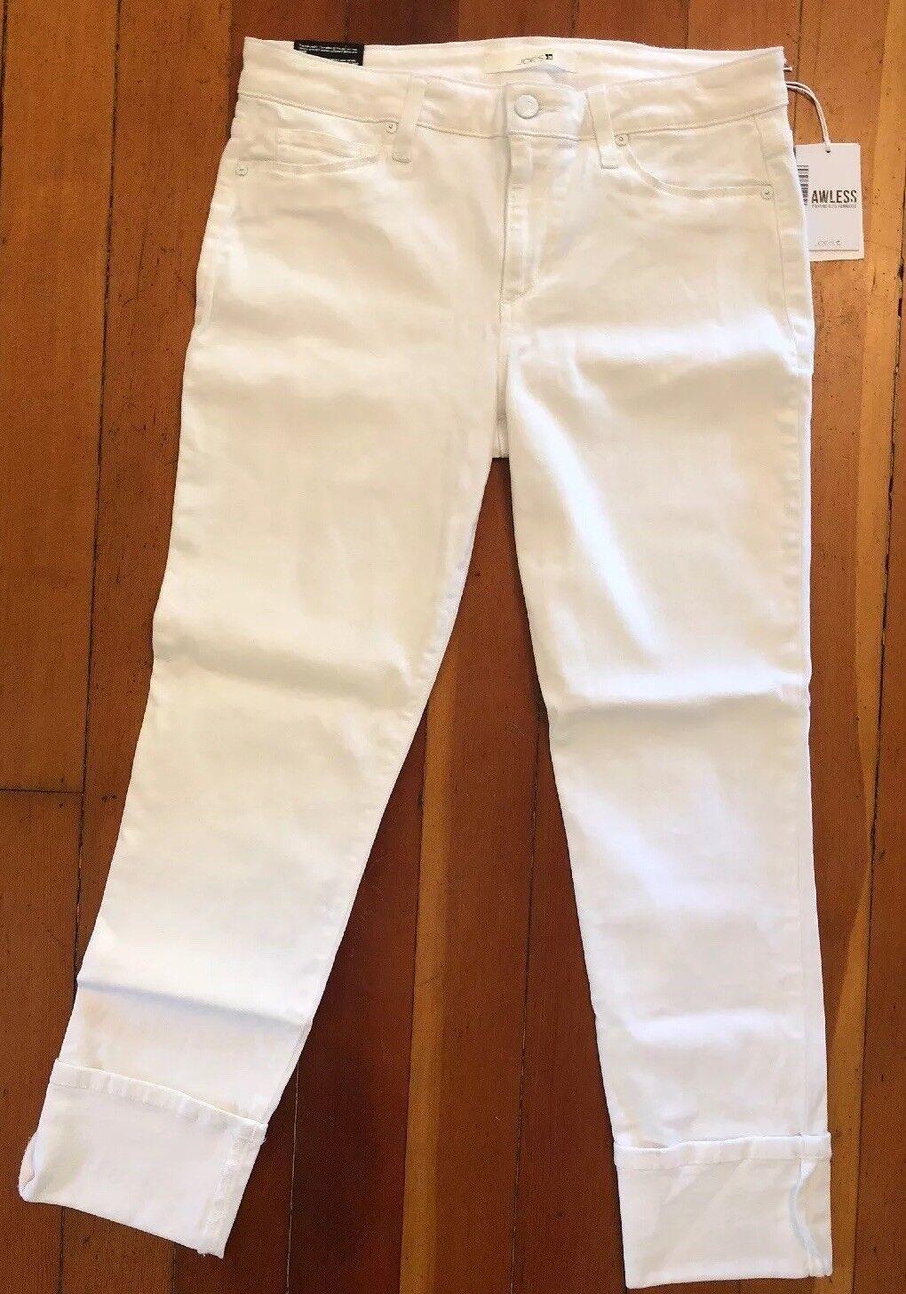 Neuf avec étiquettes Joe's Jeans Blanc Manchette Crop. Taille 31.