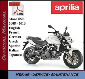 image is loading aprilia-mana-850-2008-2010-workshop-service-repair-