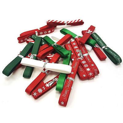 6 x 1m Christmas Berties Bows Ribbon Bundle! Crafts & Card Making Big Discounts!