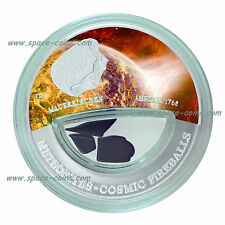 Mauerkirchen METEORITE coin! $10 Fiji, Cosmic Fireballs, 2013, Austria