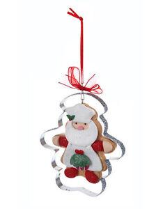 KURT S. ADLER GINGERBREAD SANTA COOKIE CUTTER CHRISTMAS TREE ORNAMENT