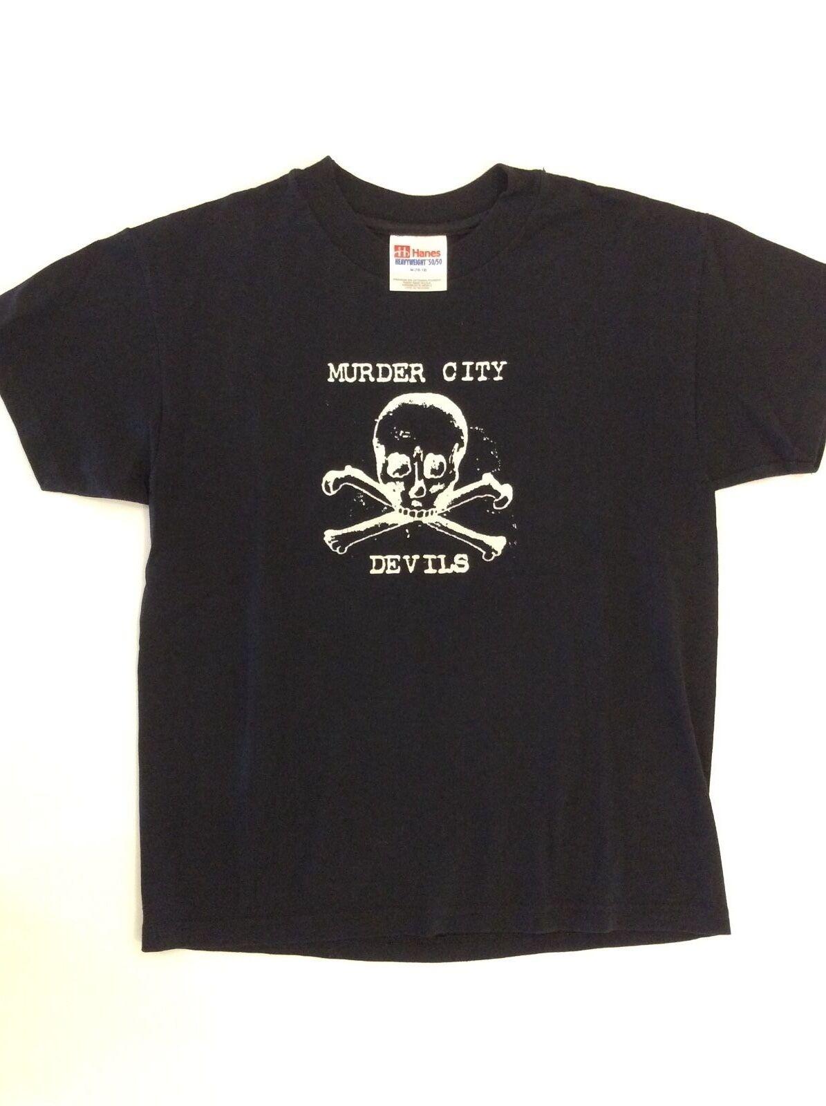 Muder City Devils Skull & Crossbones T-Shirt - schwarz - Woherren Small S