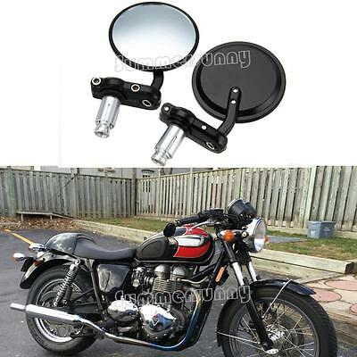 Fincos 10mm Pair Rear View Mirrors Chrome Round Motorcycle for Honda CB500 CB550 CB650 CB750 New