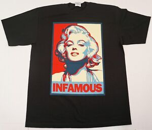 Marilyn Monroe Pop Face Signature T Shirt 100/% Cotton Men/'s Black Tee US Size