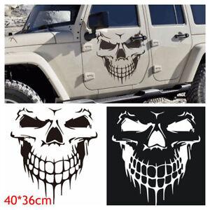 Hood-Decal-Vinyl-Sticker-Skull-Auto-Car-Tailgate-Window-16-034-Reflective-SUV-Truck