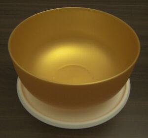 Tupperware-Ergonomica-Ergonomic-2-5-l-Schuessel-mit-Deckel-Gold-Neu-OVP
