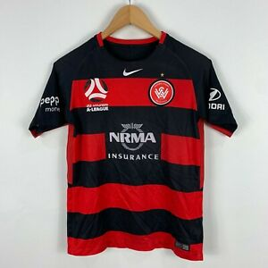 Nike-Western-Sydney-Wanderers-Soccer-Football-Jersey-Youth-Large-Short-Sleeve