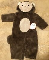 Pottery Barn Kids Baby Monkey Costume Ages 0-6 Months Brown