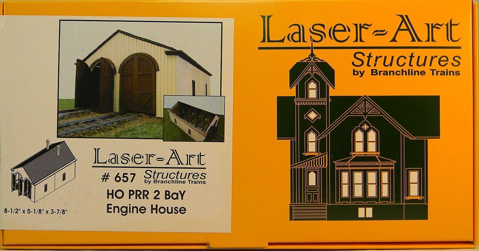 Nuevo En Caja Ho Branchline laser-art   657 Prr 2 Bay Motor Casa Kit