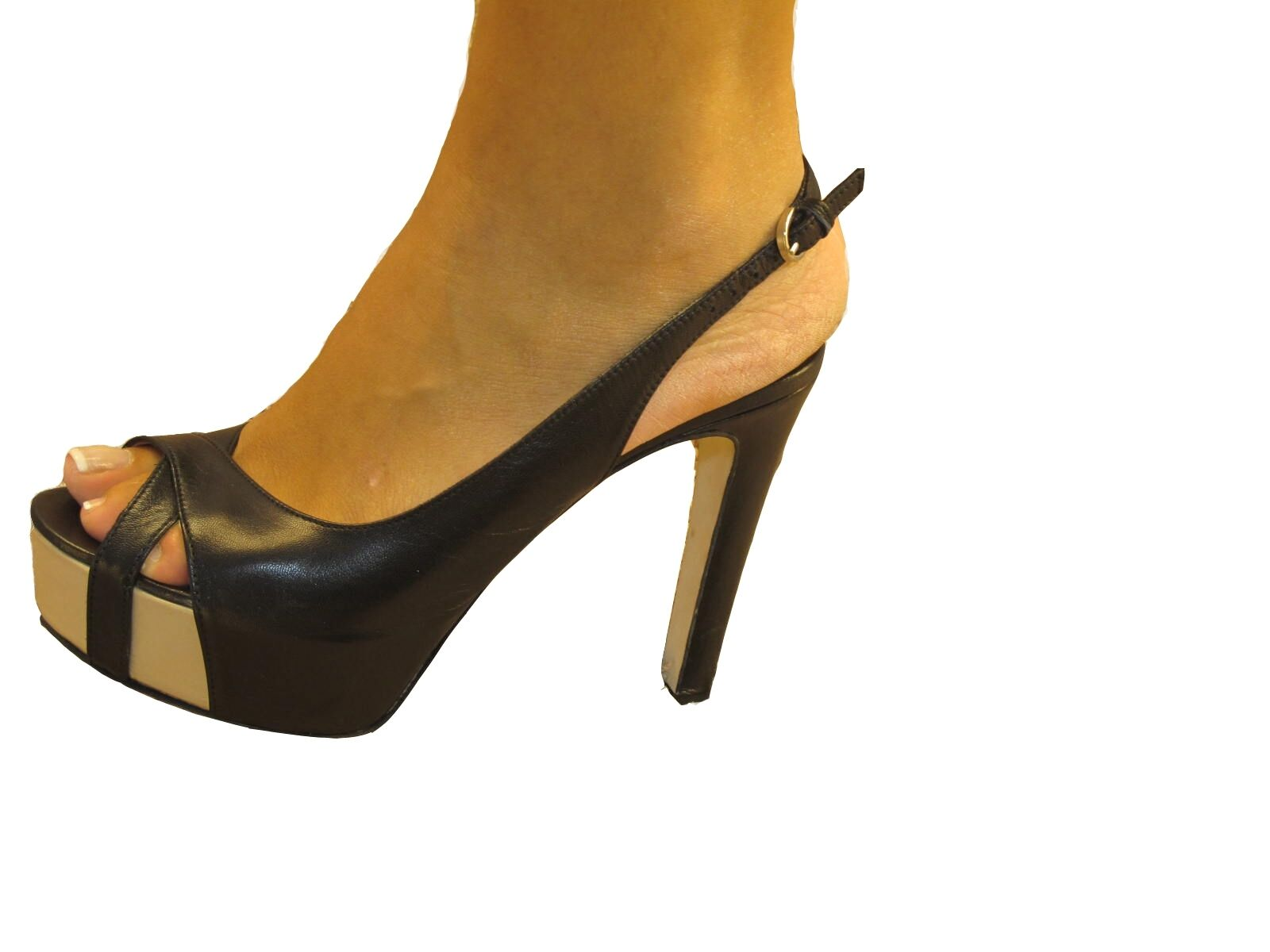 El vendedor para mujer italiano Sandalia 455 Negro