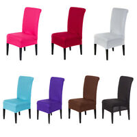 1x Housse Chaise Spandex Polyester Lycra Fini Tabouret Fauteuil Extensible Nf