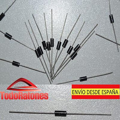 10x 1N4007 Diodo rectificador 1000V 1A DO-41 1N4001 1N4002 raspberry arduino