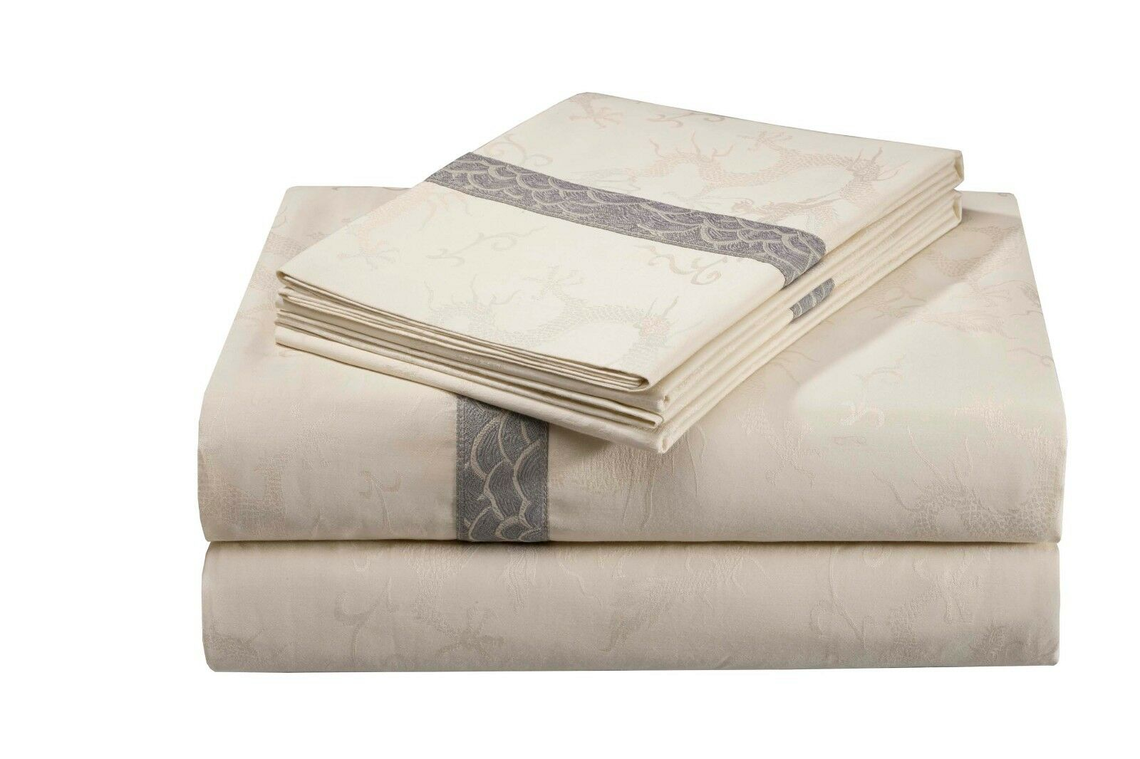 Natori Lotus temple fitted sheet King , Cal-King or Queen