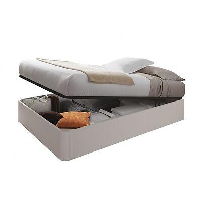 Canapé + somier elevable matrimonial cama somier canape abatible, Blanco Alpes