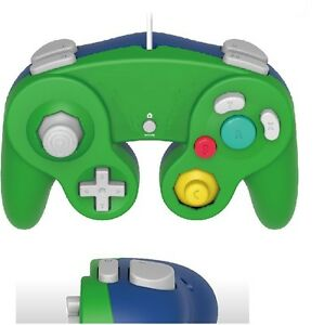 Brand-New-Controller-for-Nintendo-GameCube-or-Wii-Green-Blue-LUIGI-Cirka-Brand