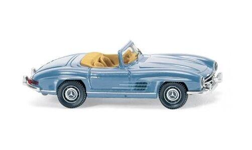 Mercedes Benz 300Sl Roadster Azul Claro Wiking 083407 Escala H0 1:87 Coche a
