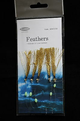 25 Packs Daylight 6 Crochet Taille 3//0 Pêche Au Maquereau Plumes Leurre Mer Pollack cod