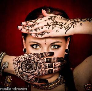 das bild wird geladen henna schablonen vorlage tattoo haende arme fuesse ruecken - Henna Muster Fur Anfanger