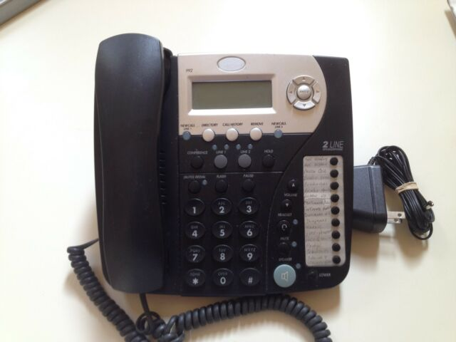 At&t 2-line corded telephone | ebay.