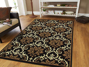 Large Area Rugs 8x11 Contemporary Rugs 8x10 Black 5x7 Rugs 5x8 Blue Rug 2x3 Mat