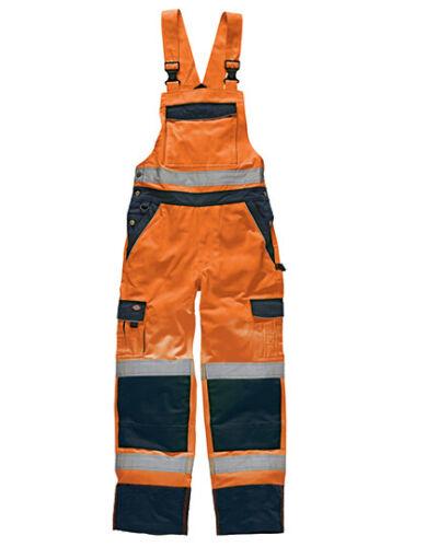 Dickies SA30045 Warnschutz Hose Latzhose HiViz EN 20471 Hochsichtbar Größe 64